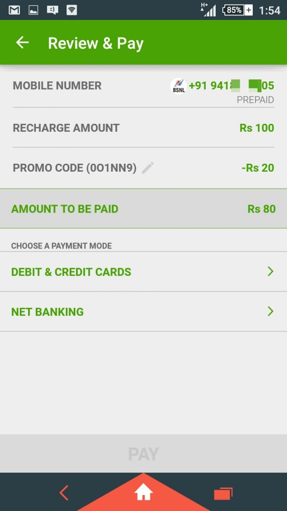 Mobile recharge discount coupons