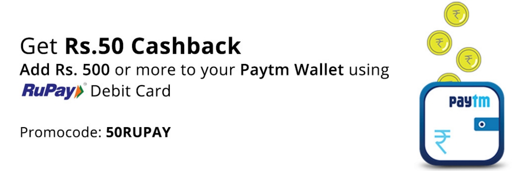 paytm rupay offer add money